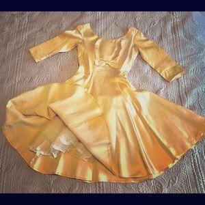 Dresses & Skirts - Vintage gold Cocktail Evening dress